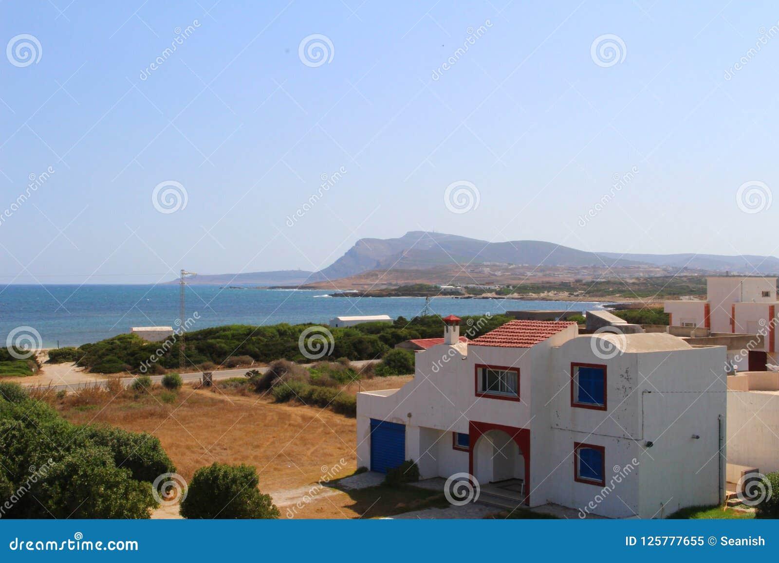 Ein Küstenhaus in Kappe Bon, Tunesien