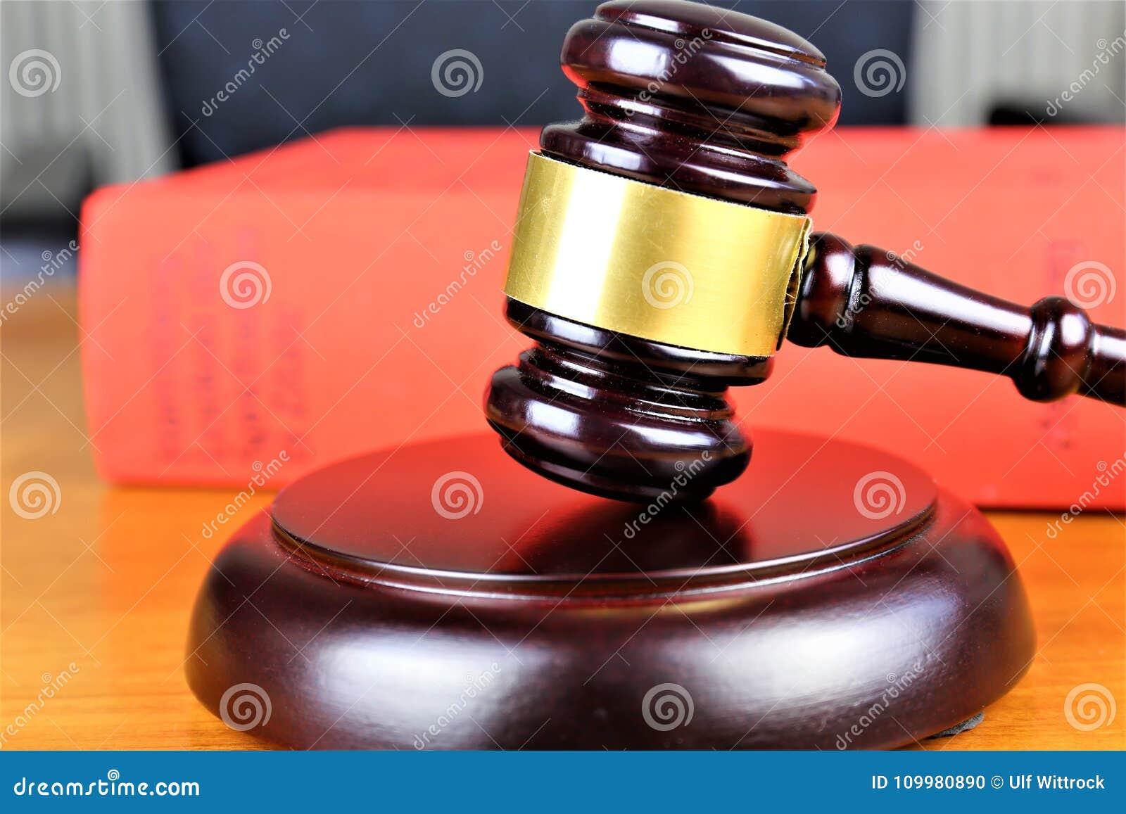 Ein Konzept Bild eines Richterhammers, Gerechtigkeit, Gericht