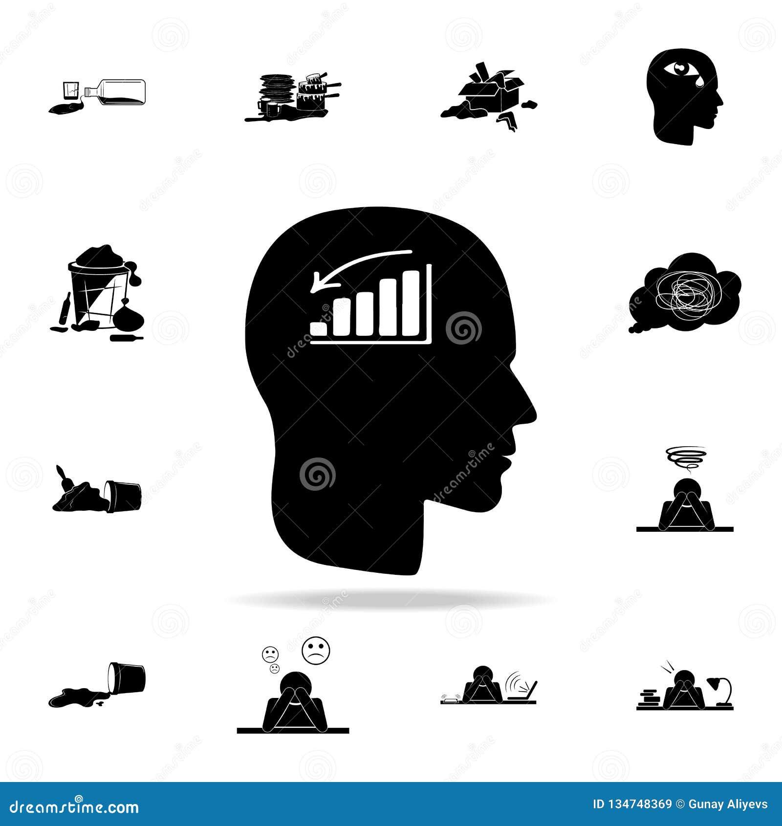 Ein Mann ohne Stimmungsikone Ausführlicher Satz Chaoselementikonen Erstklassiges Grafikdesign Eine der Sammlungsikonen für Websit