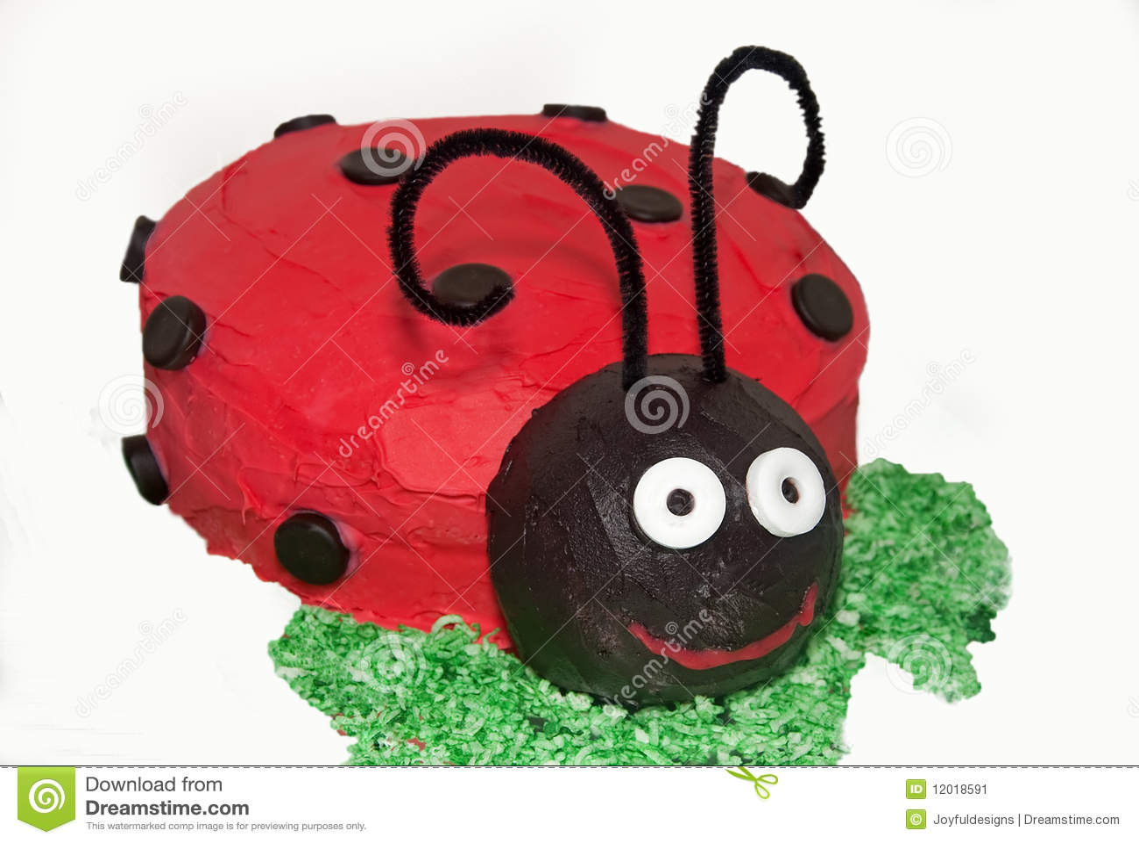 Ein Marienkafer Kuchen Stockbild Bild Von Offnung Reinigungsmittel