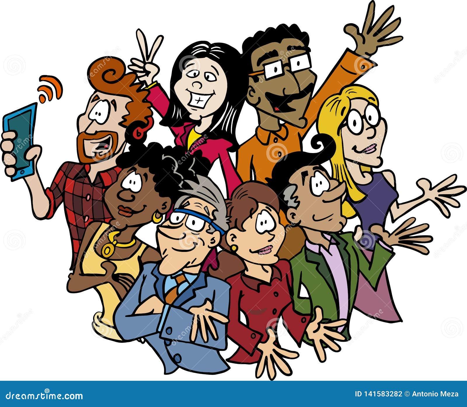 Ein multikulturelles und multiethnisches verschiedenes Team