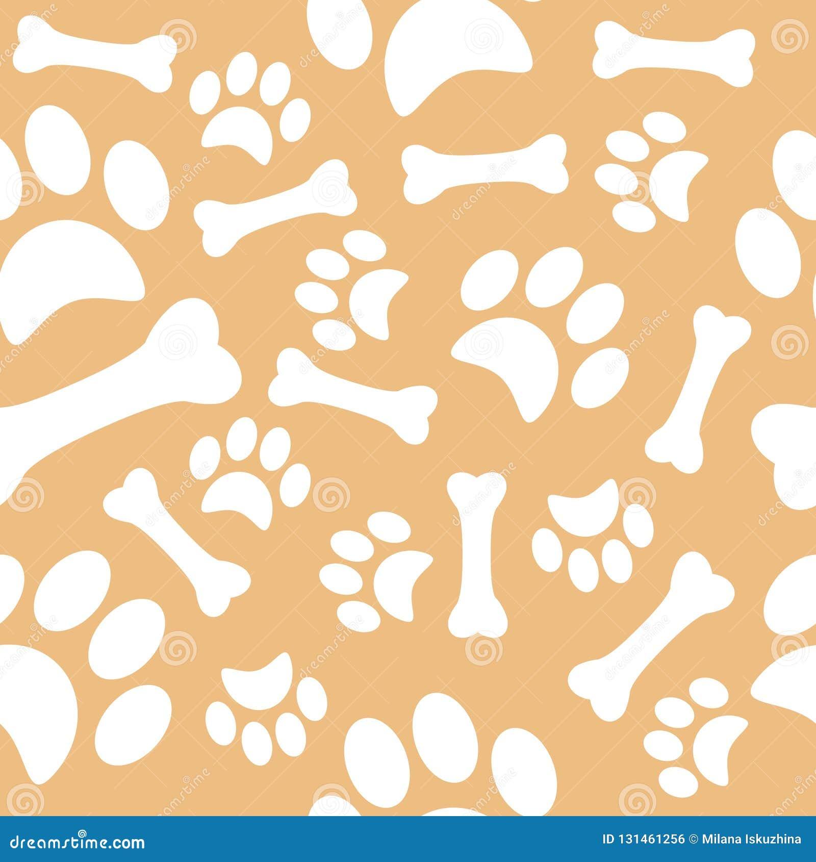 Ein Muster mit Hundeabdrücken und einem süßen Knochen Packpapier für Geschäftszoo