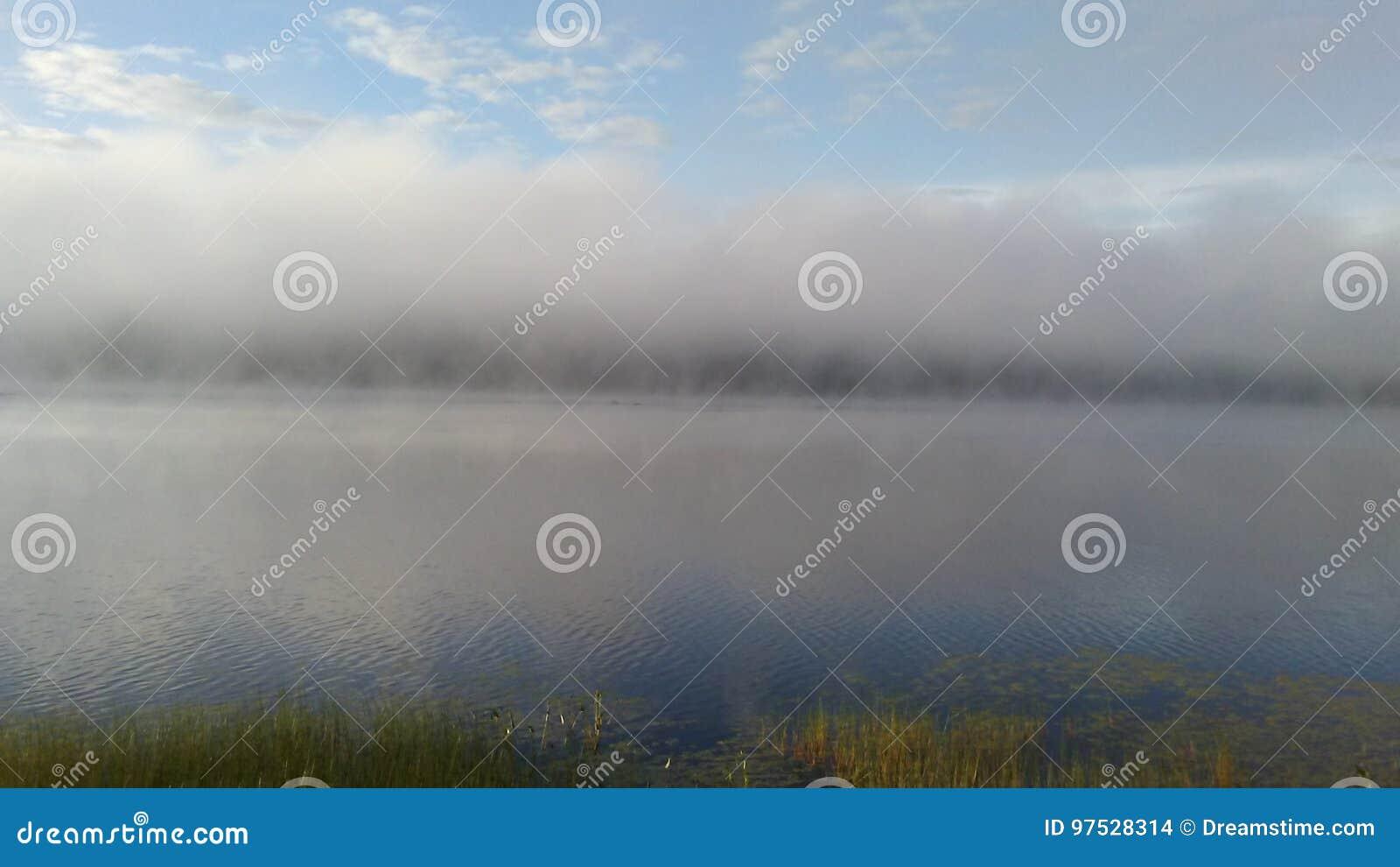 Ein Nebel über dem See