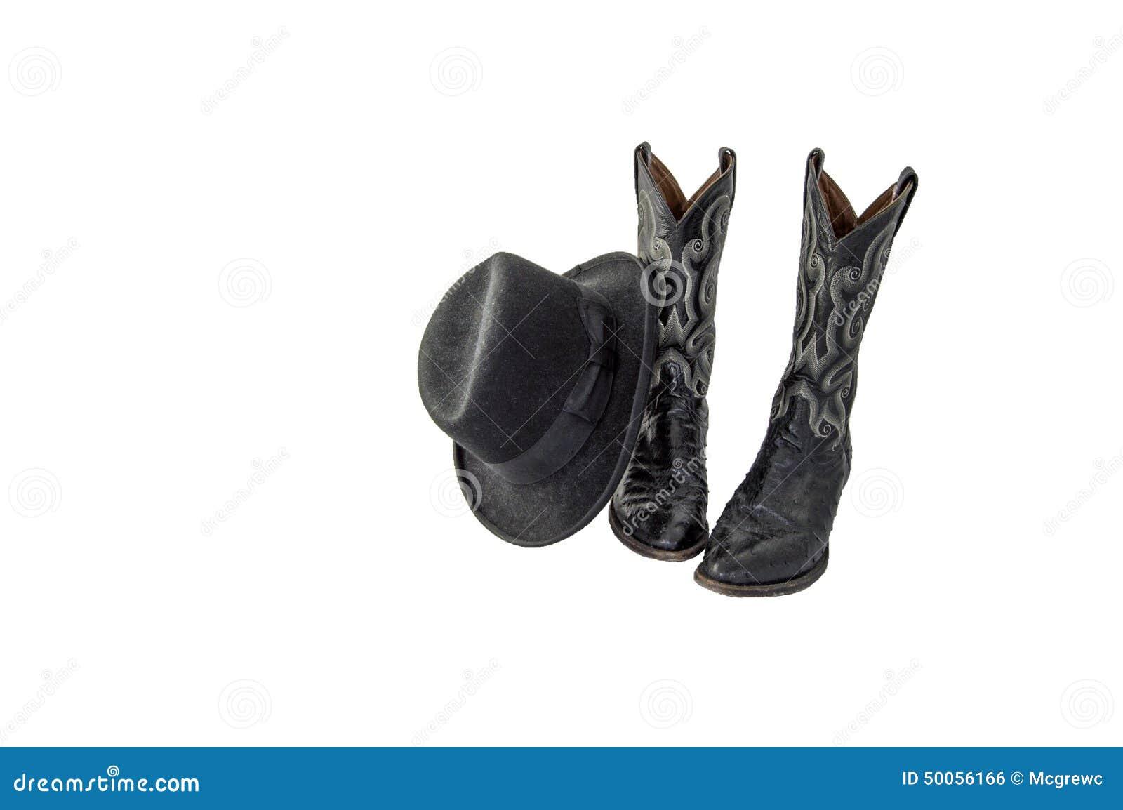 Ein Paar Fantastische Schwarze Cowboystiefel Mit Einem Schwarzen ...
