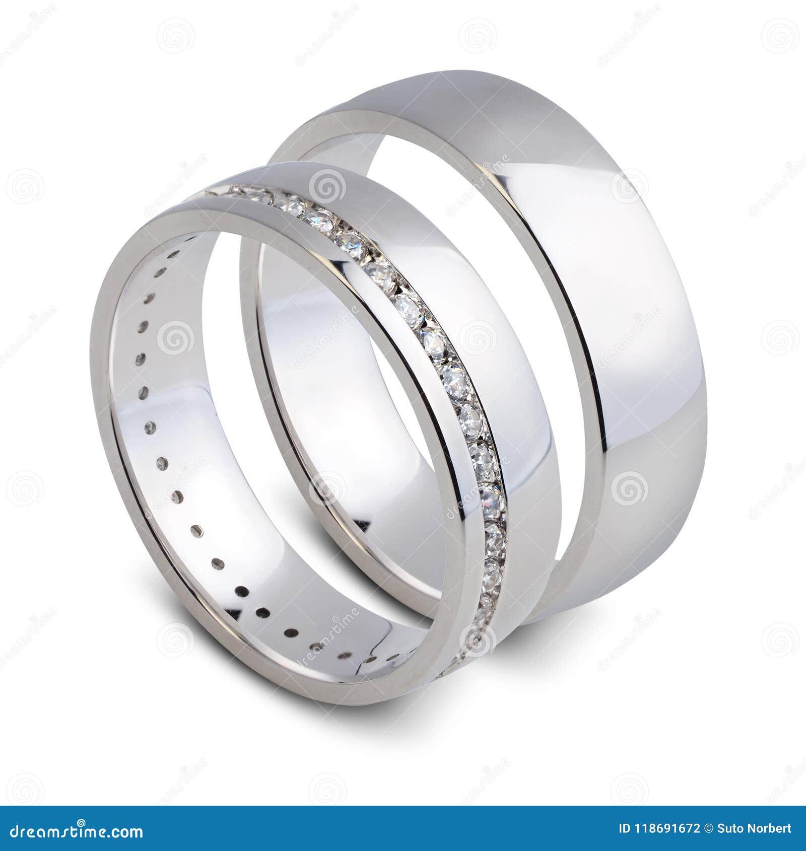 Ein Paar Hochzeitsringe Stockfoto Bild Von Ringe Symbol 118691672
