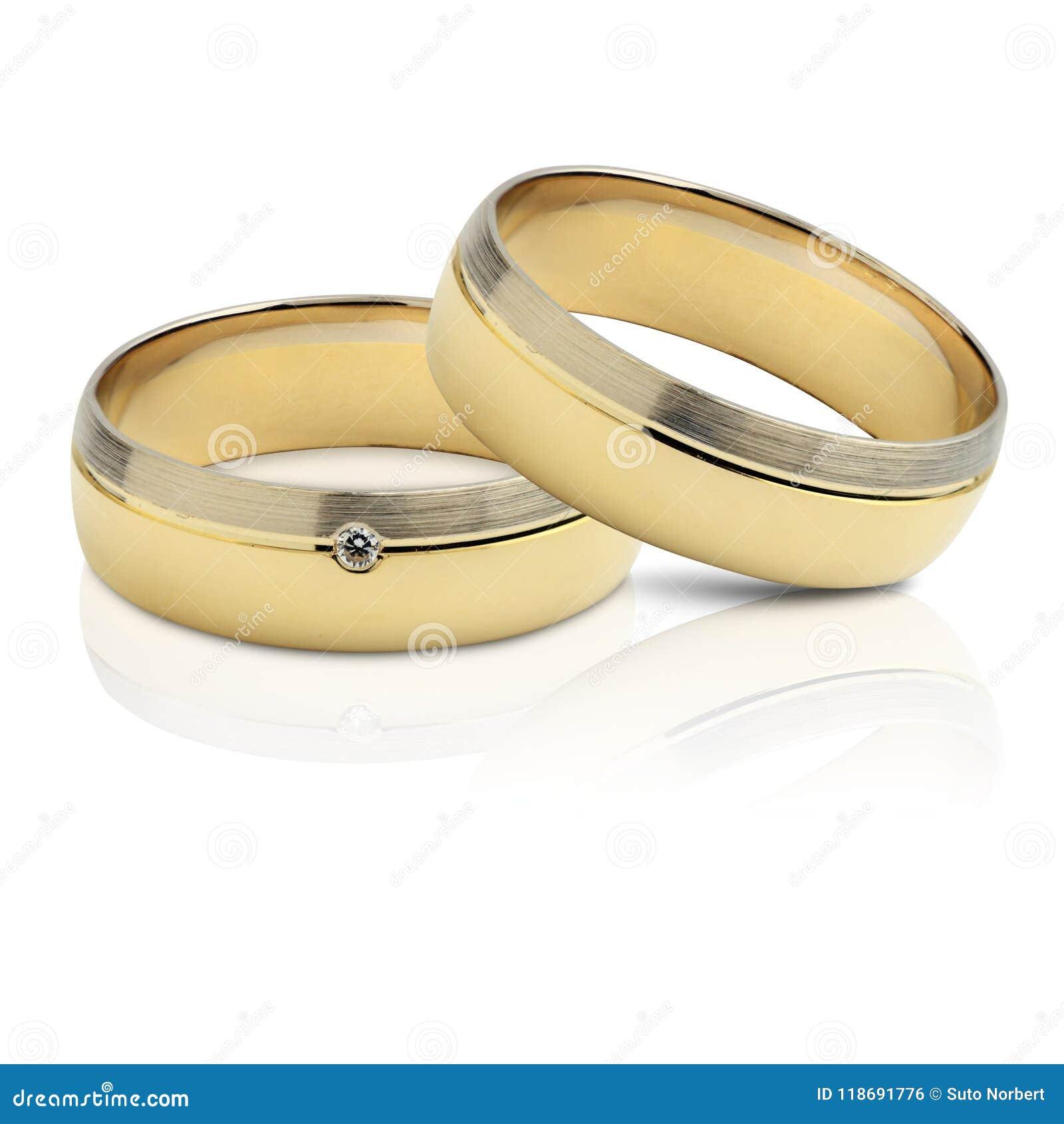 Ein Paar Hochzeitsringe Stockfoto Bild Von Symbol Getrennt 118691776