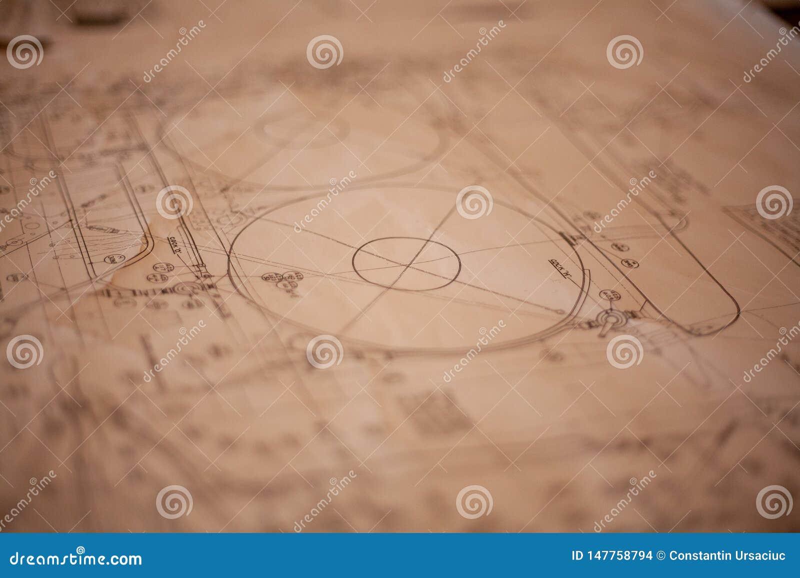 Ein Papierplan