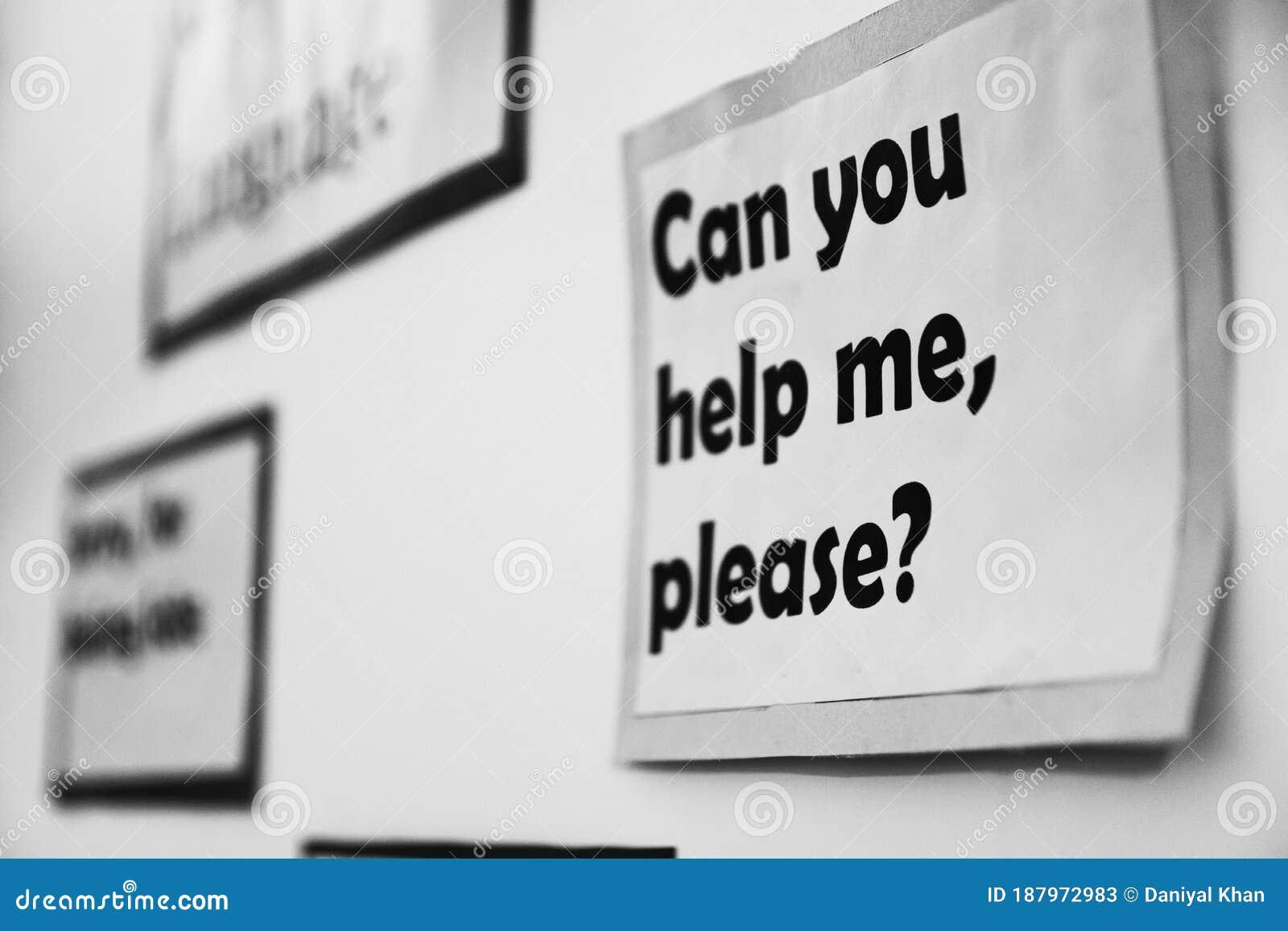 Ein Poster An Der Wand, Die Sagt, Kannst Du Mir Bitte