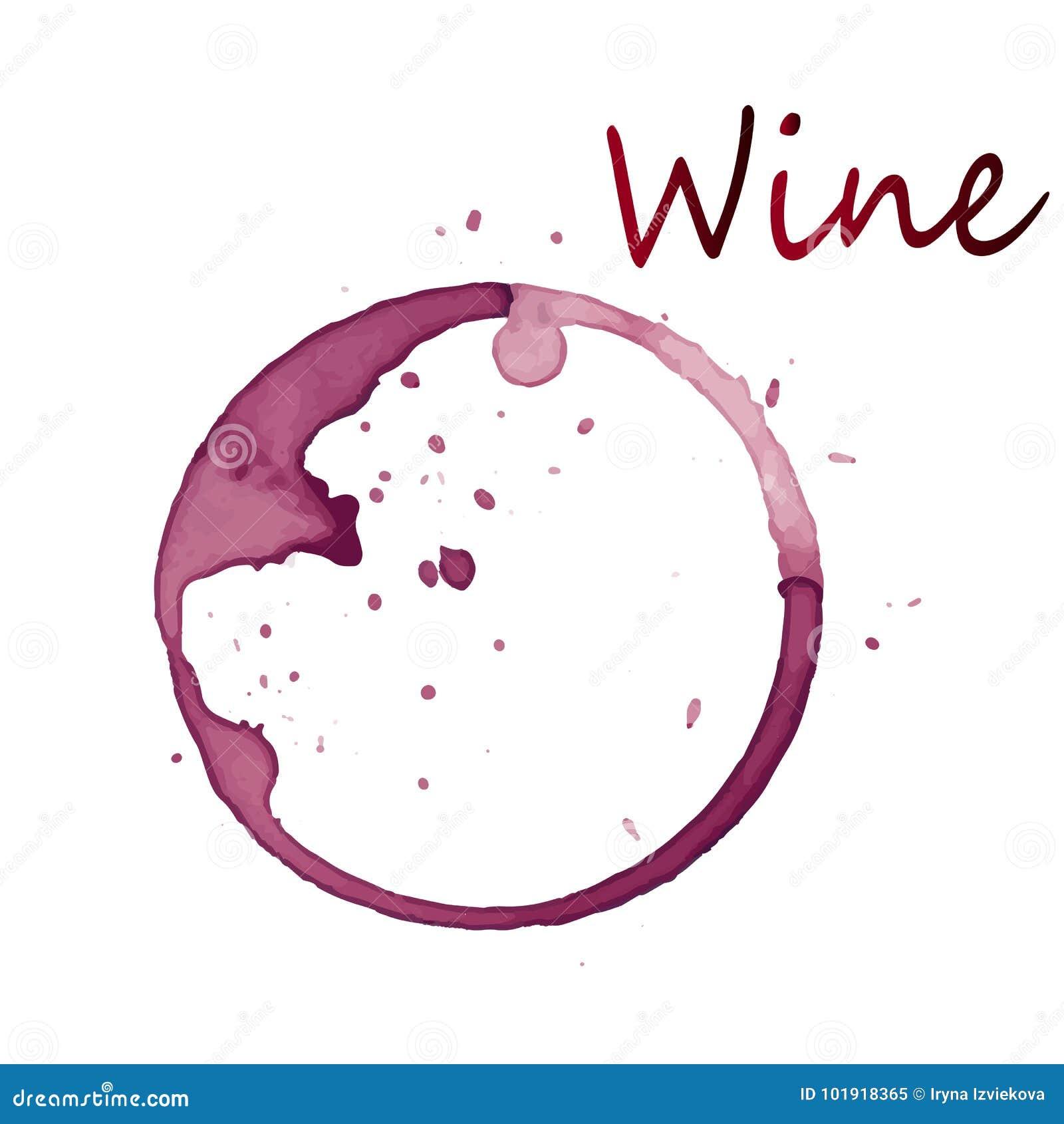 Ein roter Fleck von einem Weingetränk