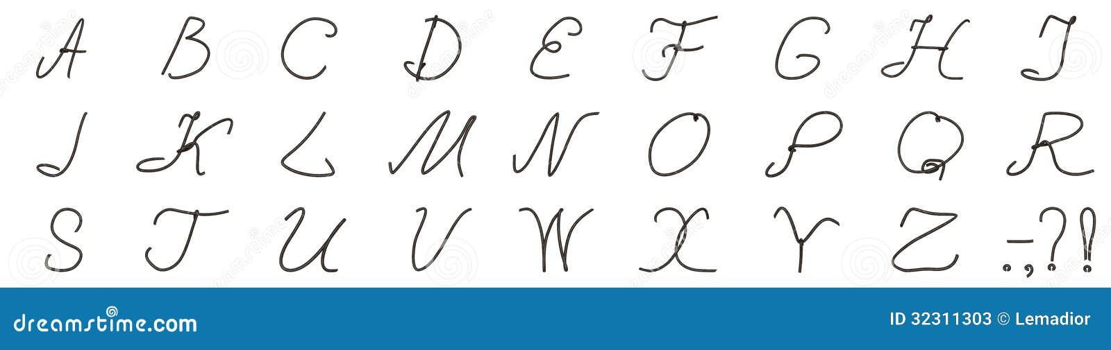 Ein Satz Buchstaben Vom Alten Draht Stock Abbildung - Illustration ...