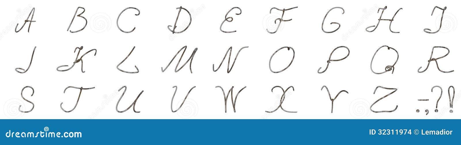 Ausgezeichnet Draht Buchstaben Alphabet Zeitgenössisch - Elektrische ...