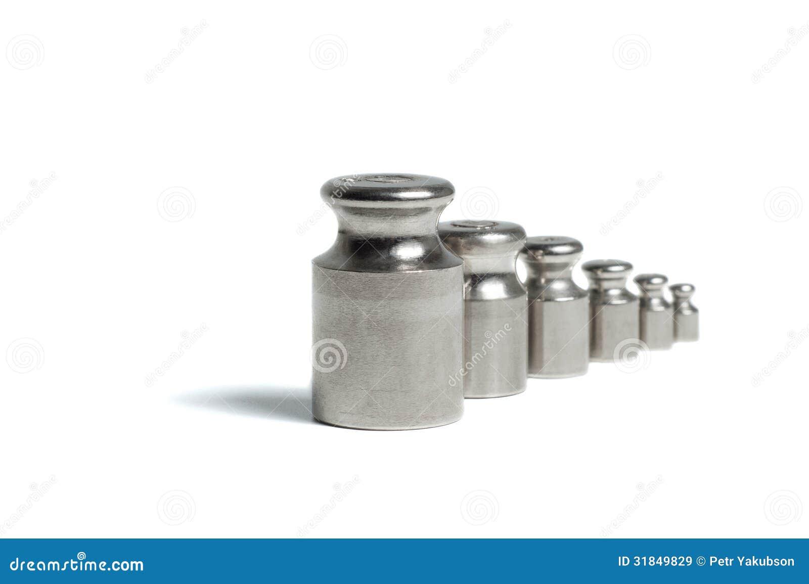 Ein Satz Gewichte für Skalen