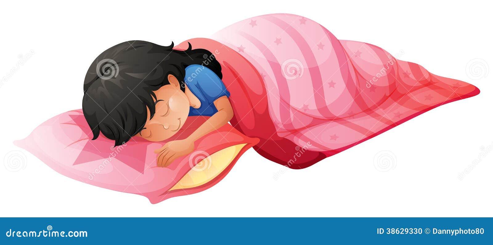 ein schlafen der jungen frau vektor abbildung illustration von bequem rest 38629330. Black Bedroom Furniture Sets. Home Design Ideas