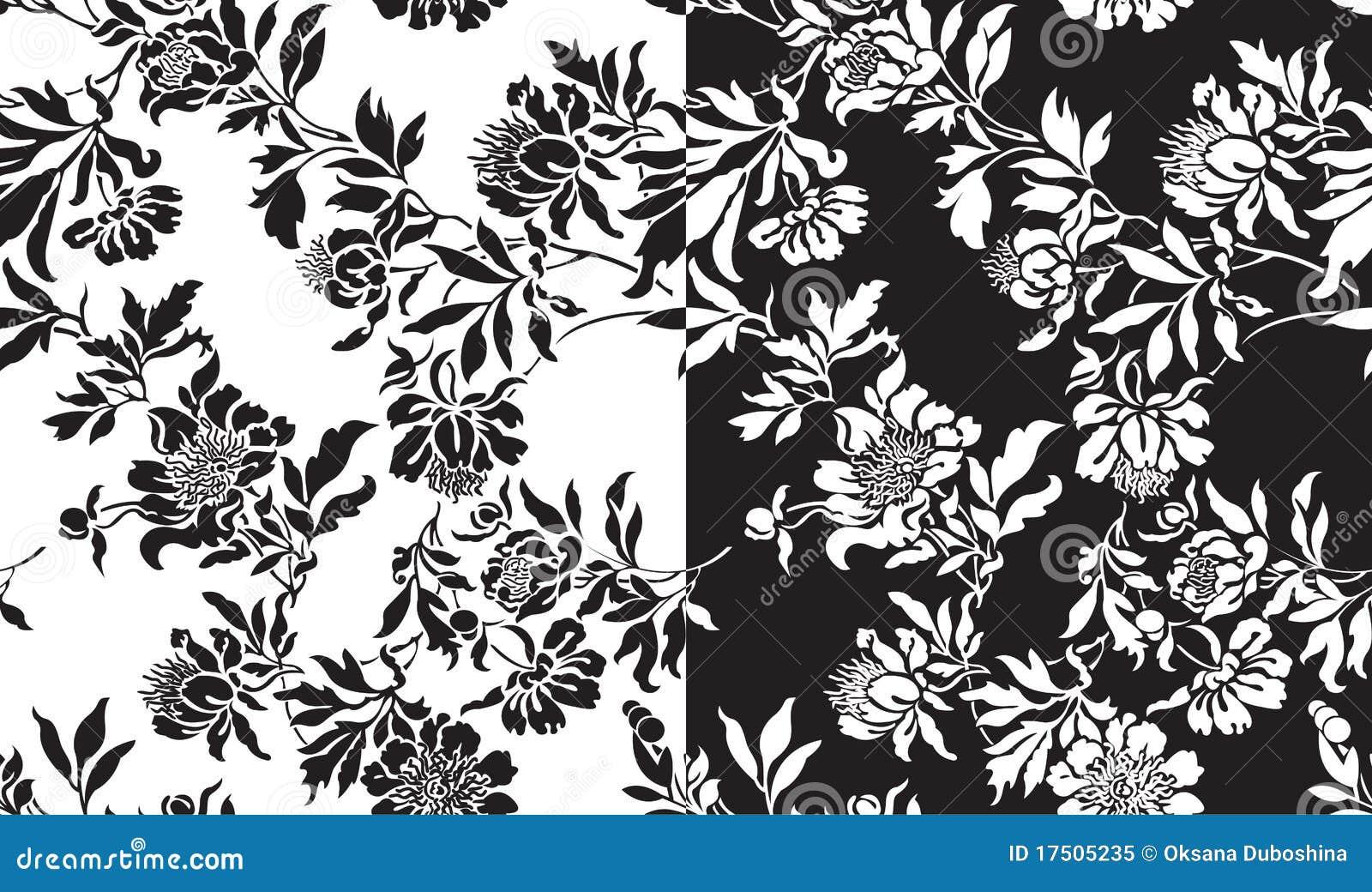 ein set nahtlose schwarzweiss muster lizenzfreies stockfoto bild 17505235. Black Bedroom Furniture Sets. Home Design Ideas