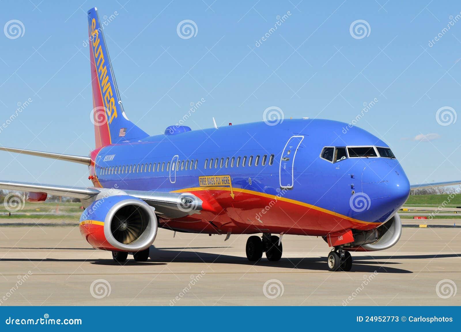 Ein Southwest Airlines betriebsbereit zum Abflug