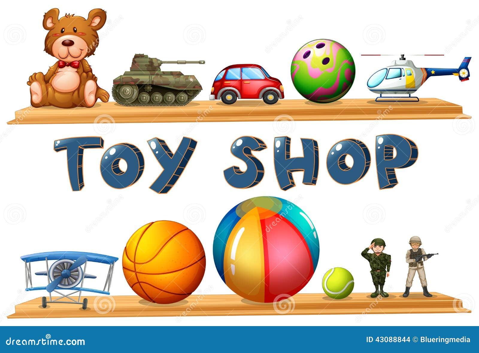 Ein Spielzeugshop
