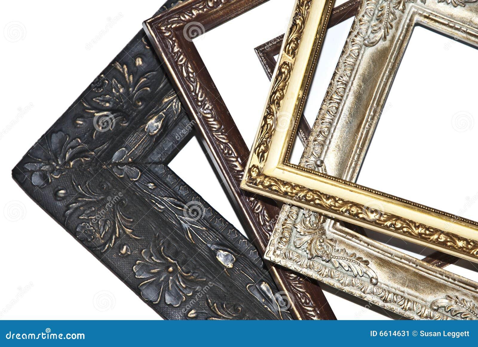 Ein Stapel Der Bilderrahmen Stockbild - Bild von konzept, schwarzes ...
