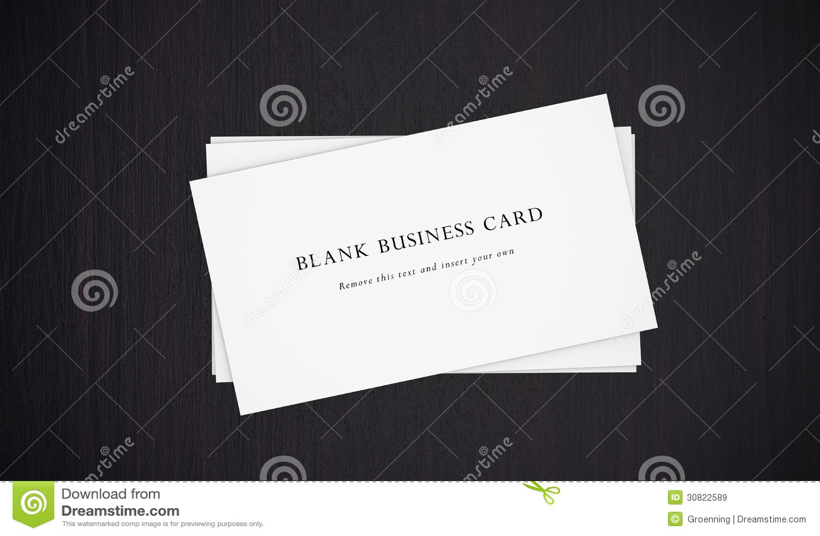 Ein Stapel Leere Visitenkarten Stockbild Bild Von