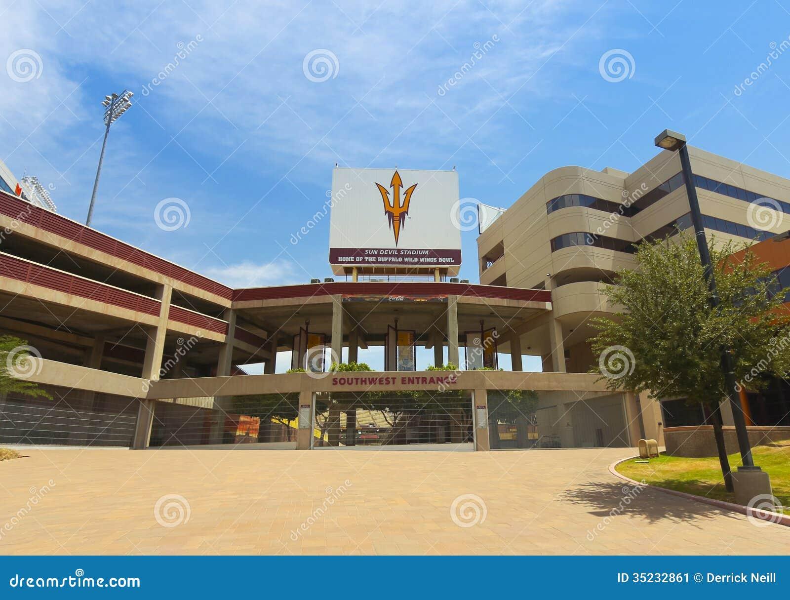 Ein Sun Devil Stadium Schuss Tempe Arizona Redaktionelles Foto