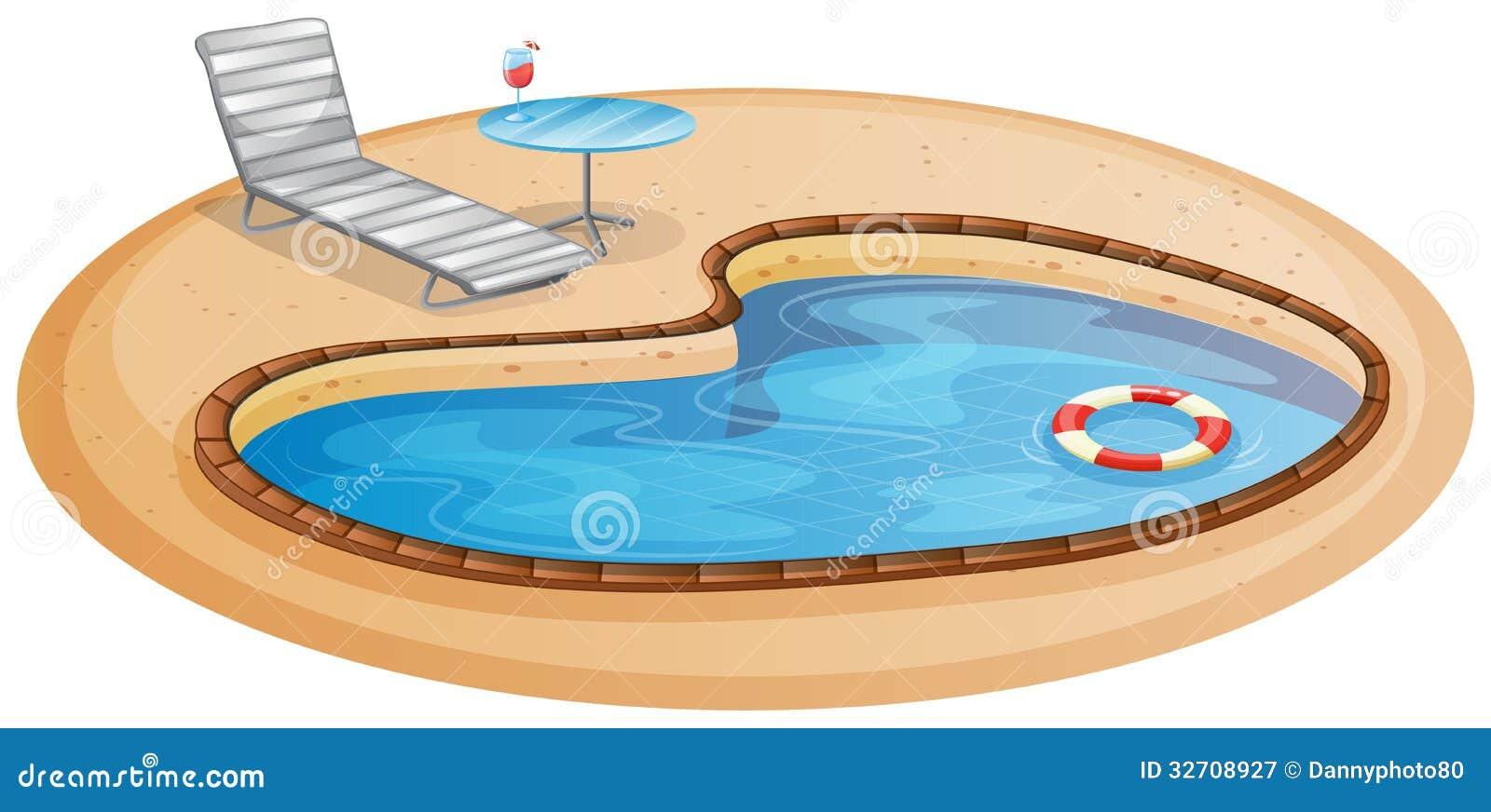 ein swimmingpool lizenzfreie stockfotografie bild 32708927. Black Bedroom Furniture Sets. Home Design Ideas