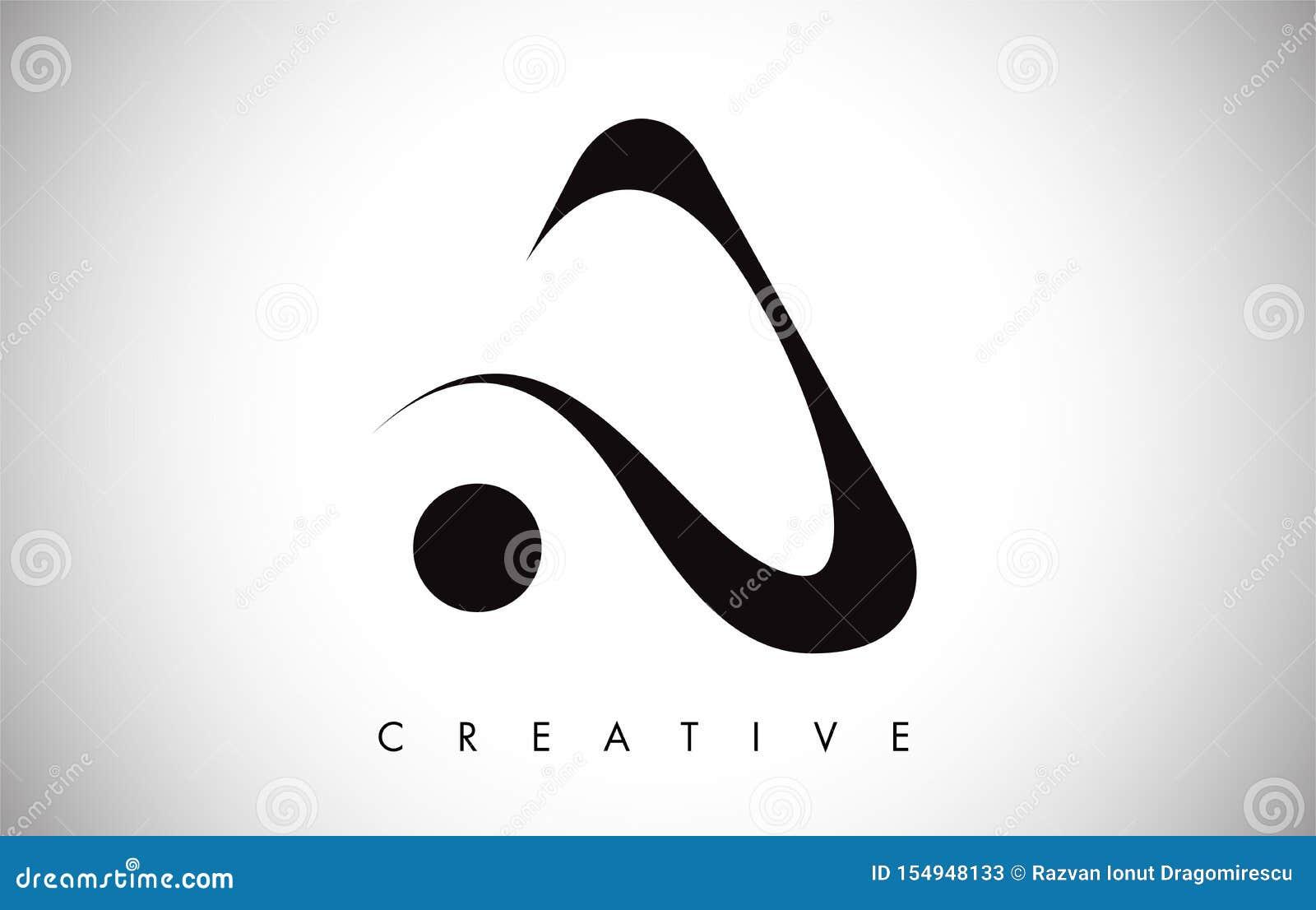 Ein Swoosh Buchstabe-modernes modisches Entwurfs-Logo Beschriften Sie ein Ikonen-Logo mit modernem Swoosh