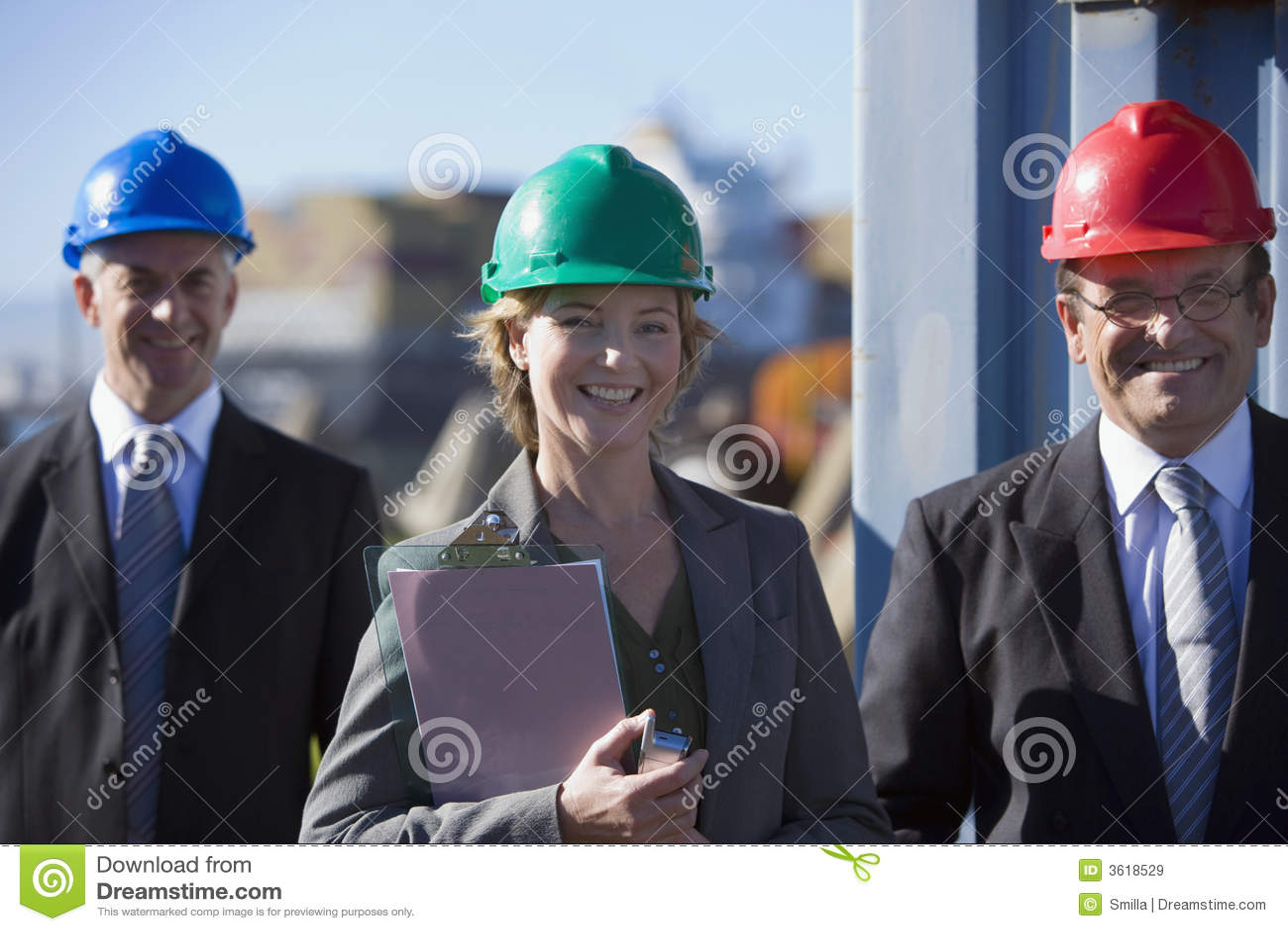 Ein Technikteam auf Übersicht