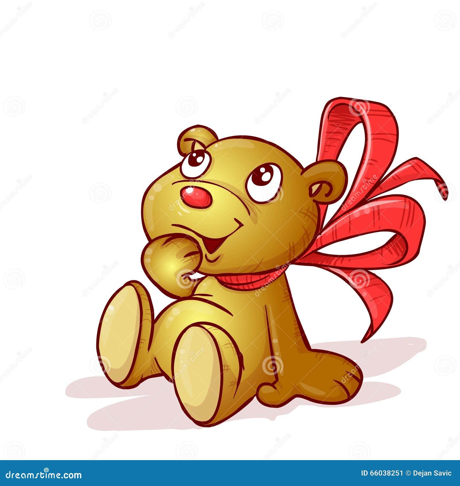 Ein Teddybär mit Bogen