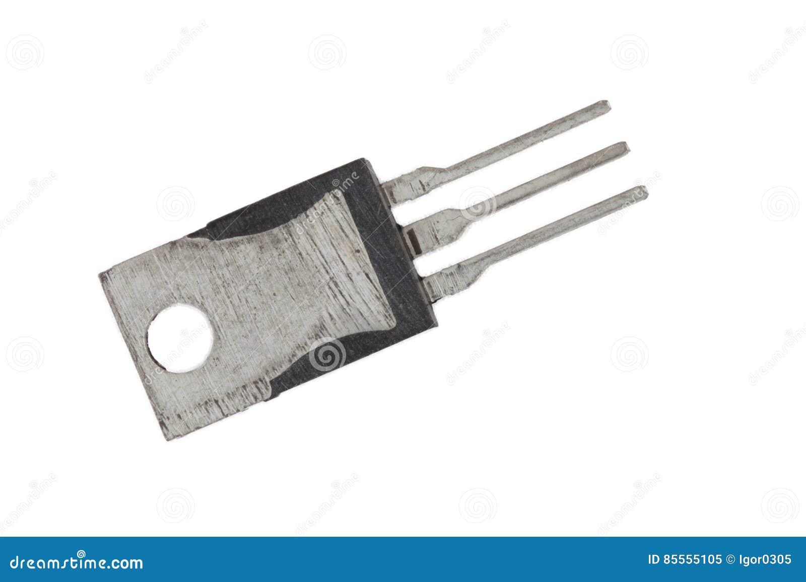 Ein Transistor auf dem Weiß