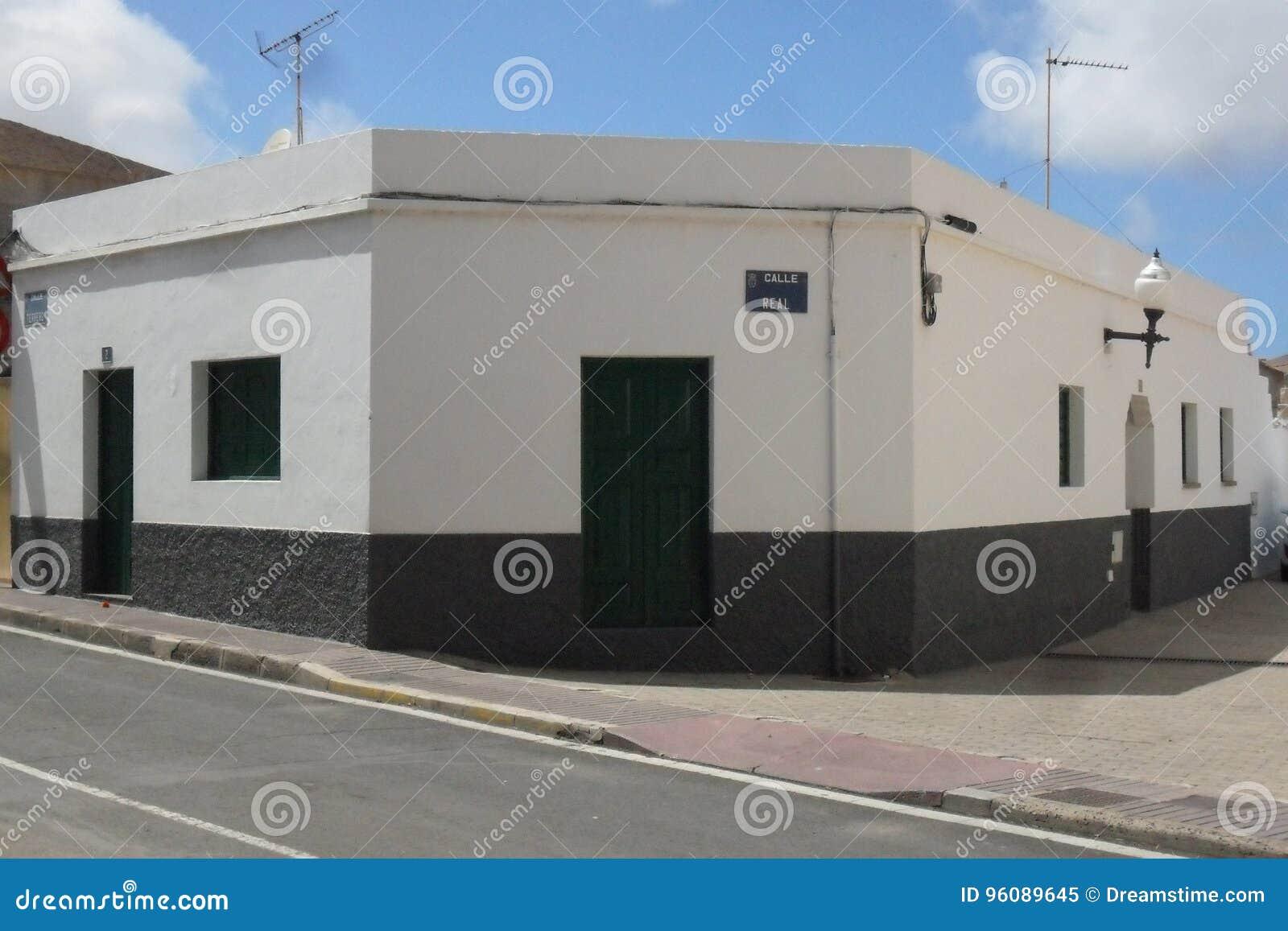Ein typisches Haus in der Insel von Fuerteventura in den Kanarischen Inseln