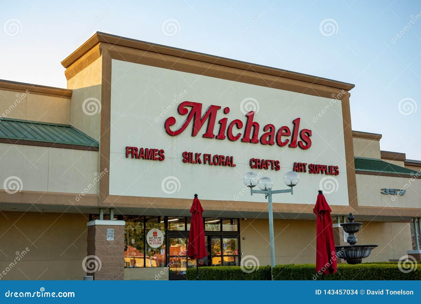Ein vorderes Zeichen des Speichers für Michaels