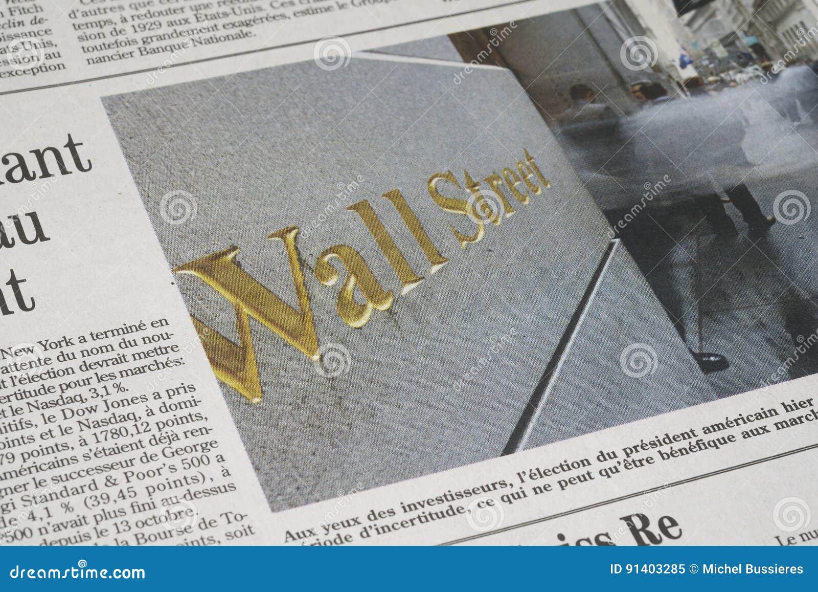 Ein Wall Street-Artikel