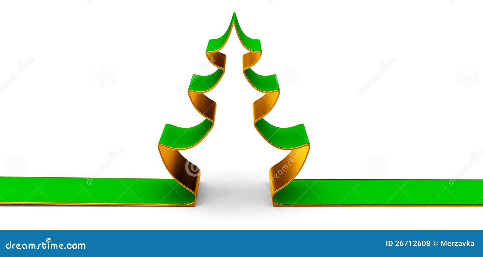ein weihnachten baum als symbol von weihnachten stock abbildung bild 26712608. Black Bedroom Furniture Sets. Home Design Ideas