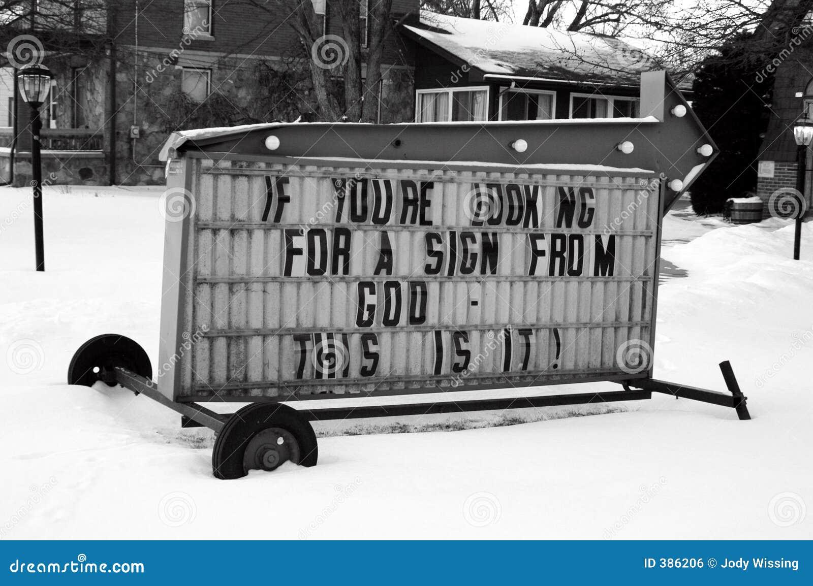 Ein Zeichen vom Gott