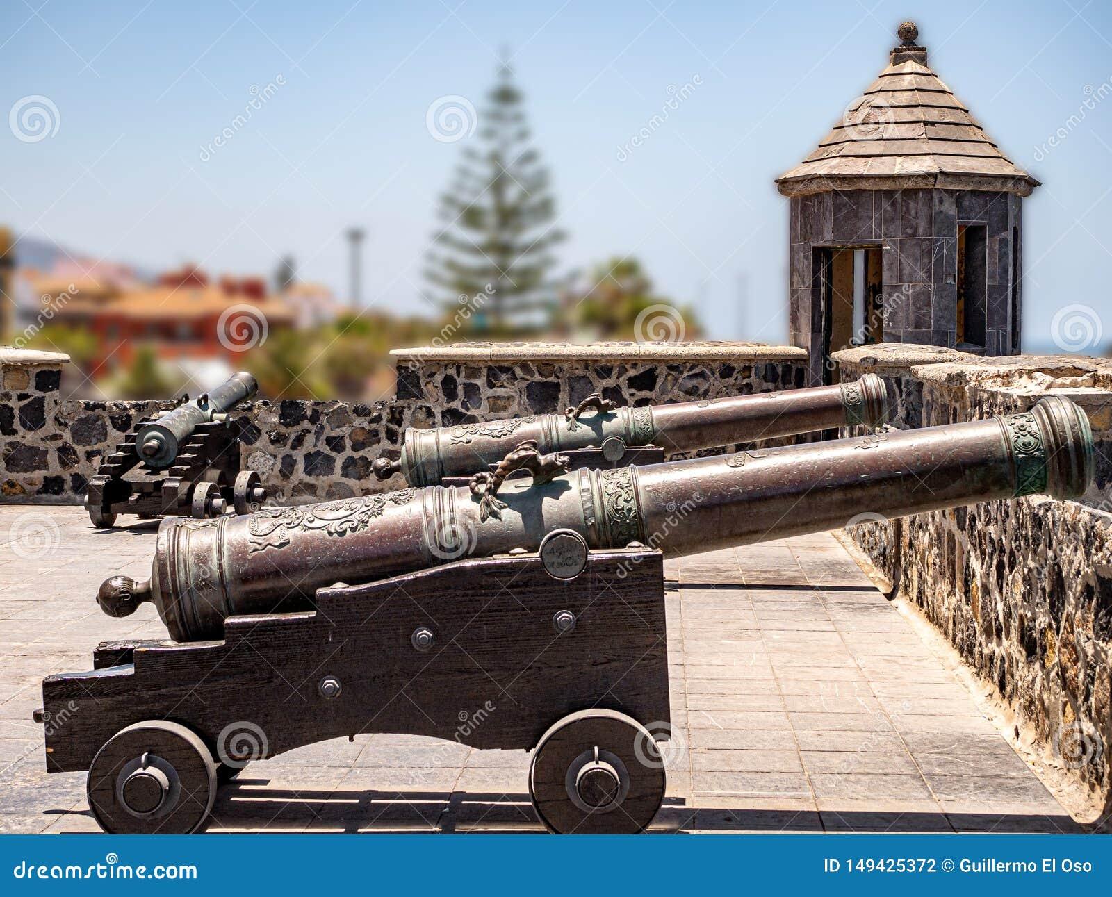 Einblick in die Vergangenheit von alten Festungskanonen