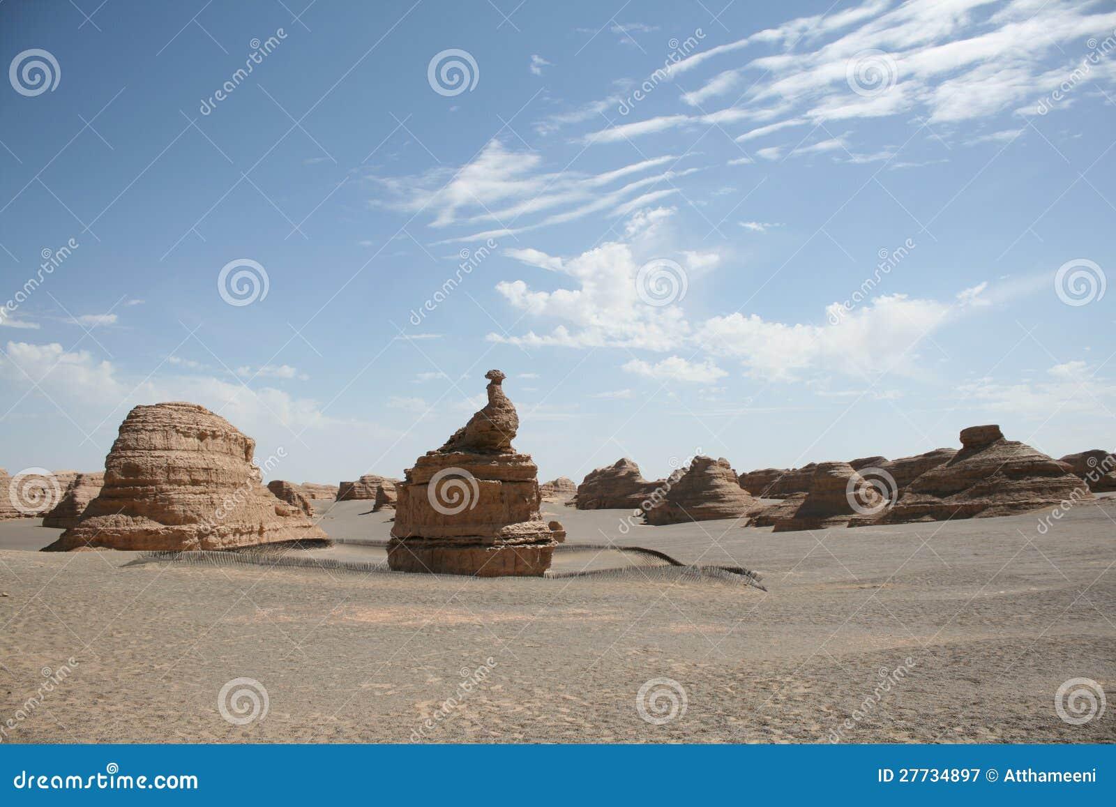 Eindeutiger Pfaustein im yadan Landform Dunhuang