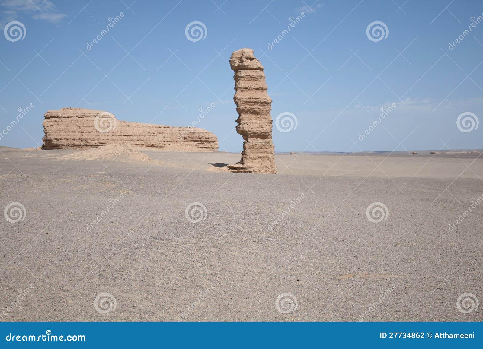 Eindeutiger Stein im yadan Landforms Dunhuang-Porzellan