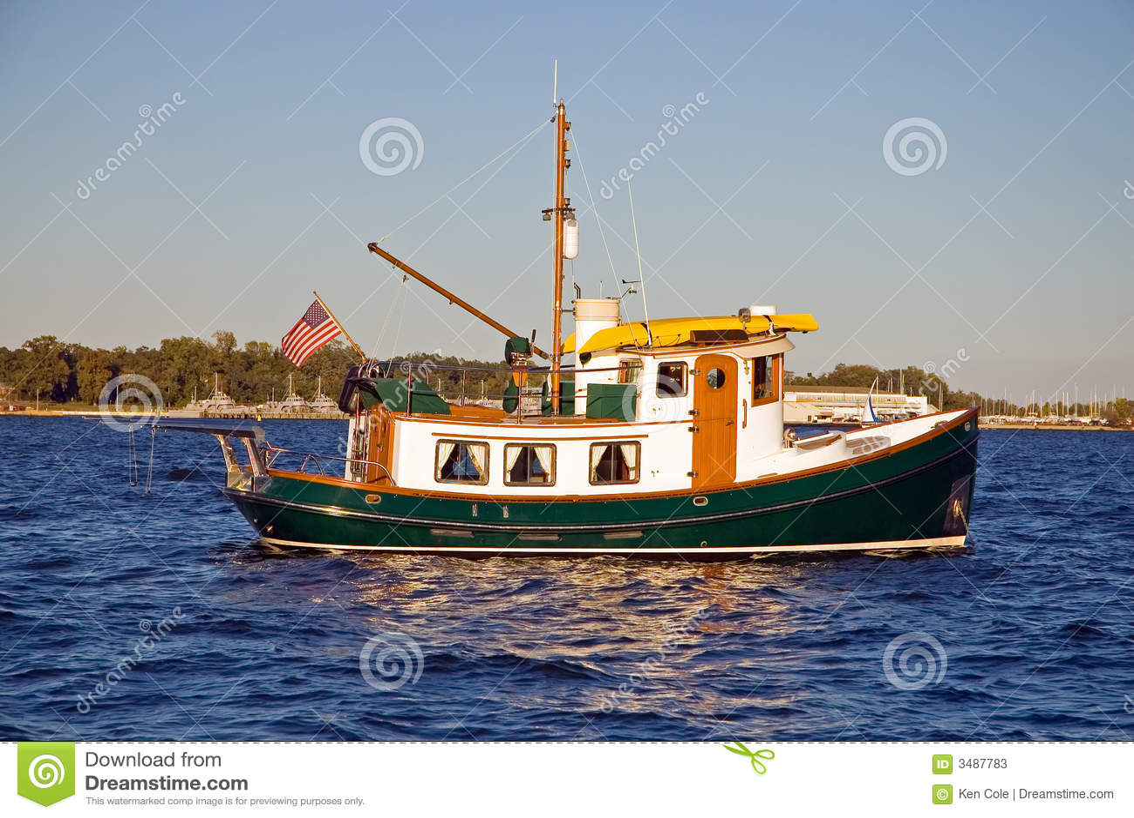 Eindeutiges Schlepperboot