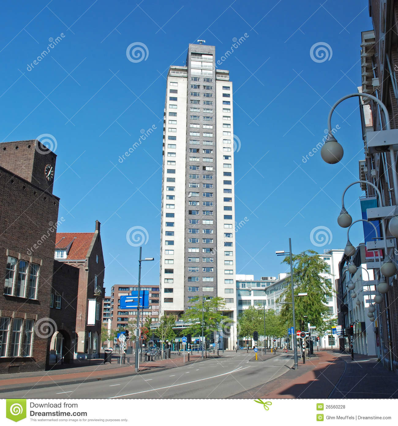 Philips Light Tower In Eindhoven: Eindhoven Centre-High Regent Building-Witte Dame Royalty