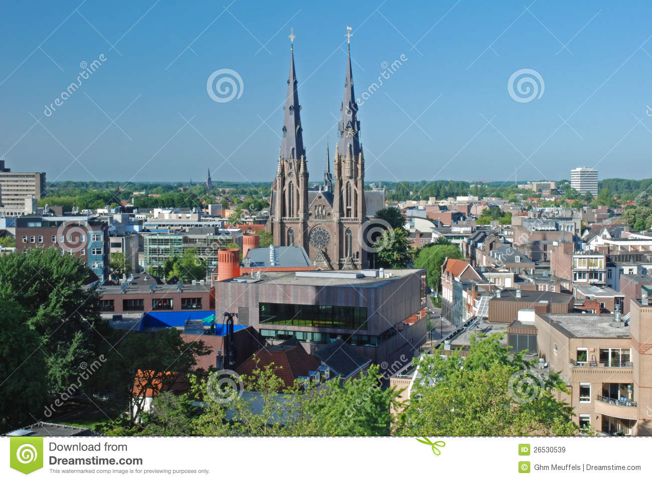 Eindhoven downtown - Netherlands -View from height
