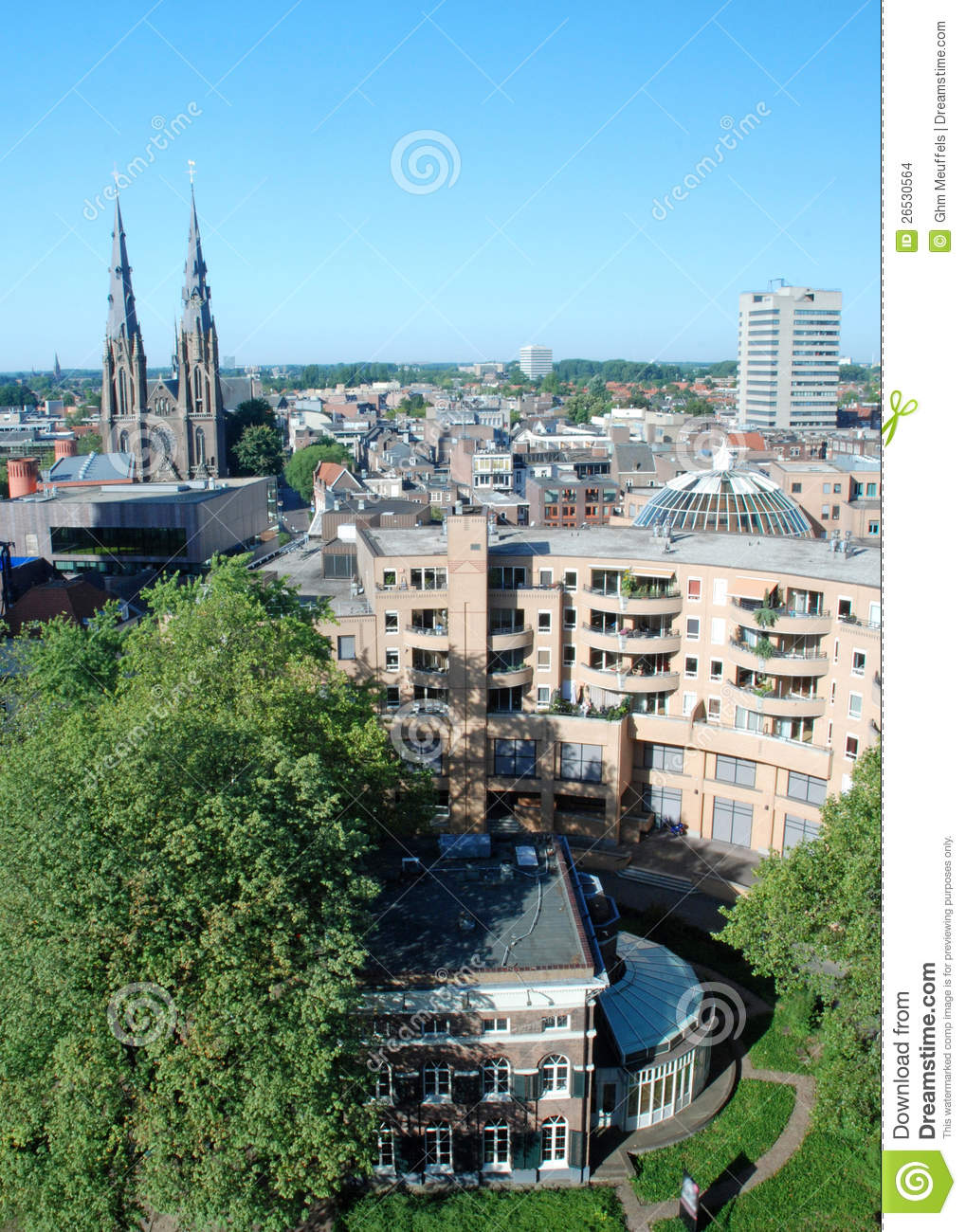 Eindhoven city centre -Netherlands - View from hei