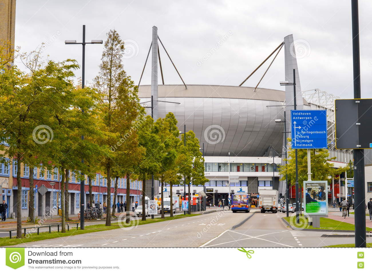 Eindhoven, the Netherlands - 15.09.2015: View at the Philips Sta