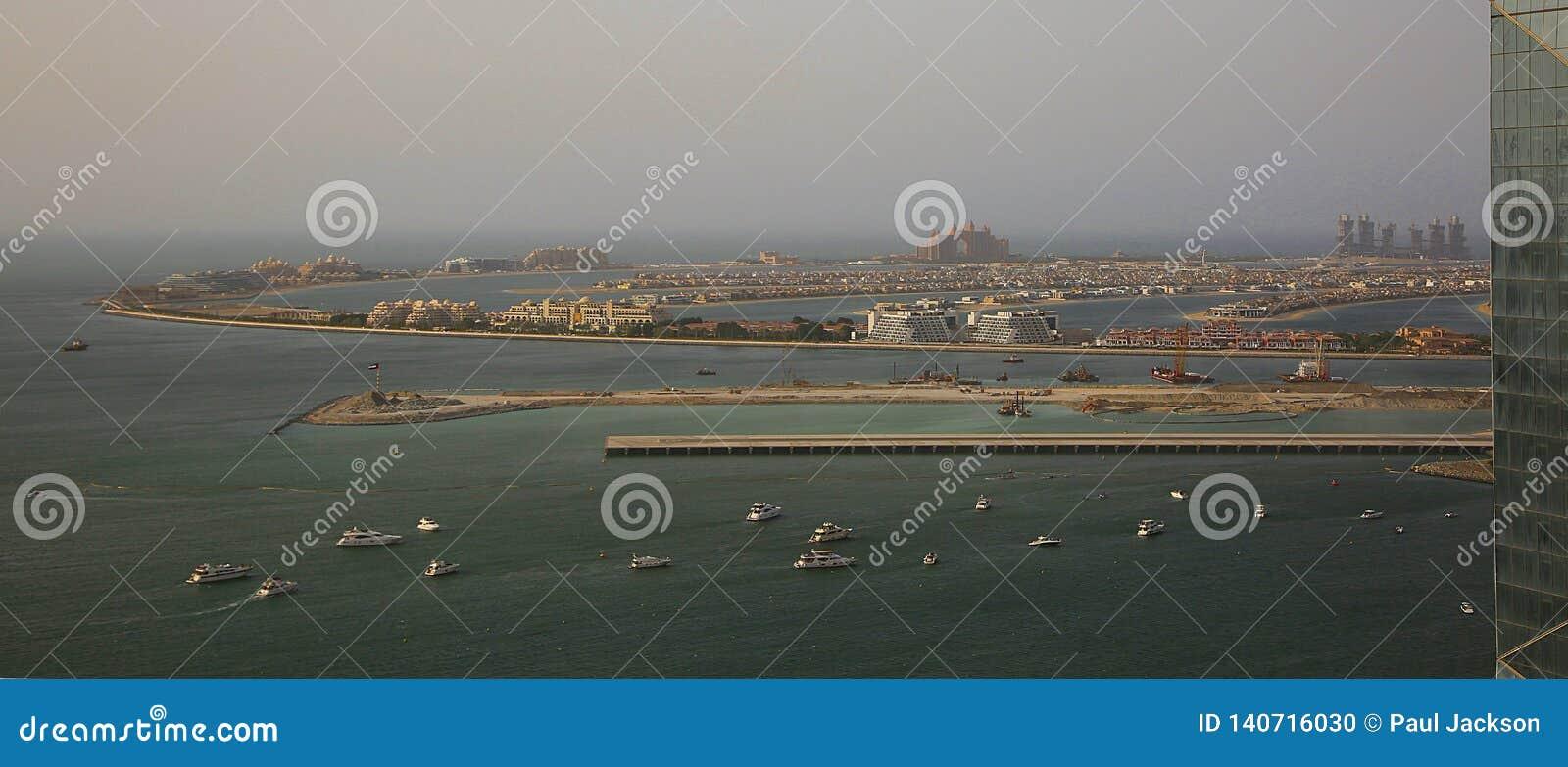 Eine Ansicht der Jumeriah-Palme in Dubai
