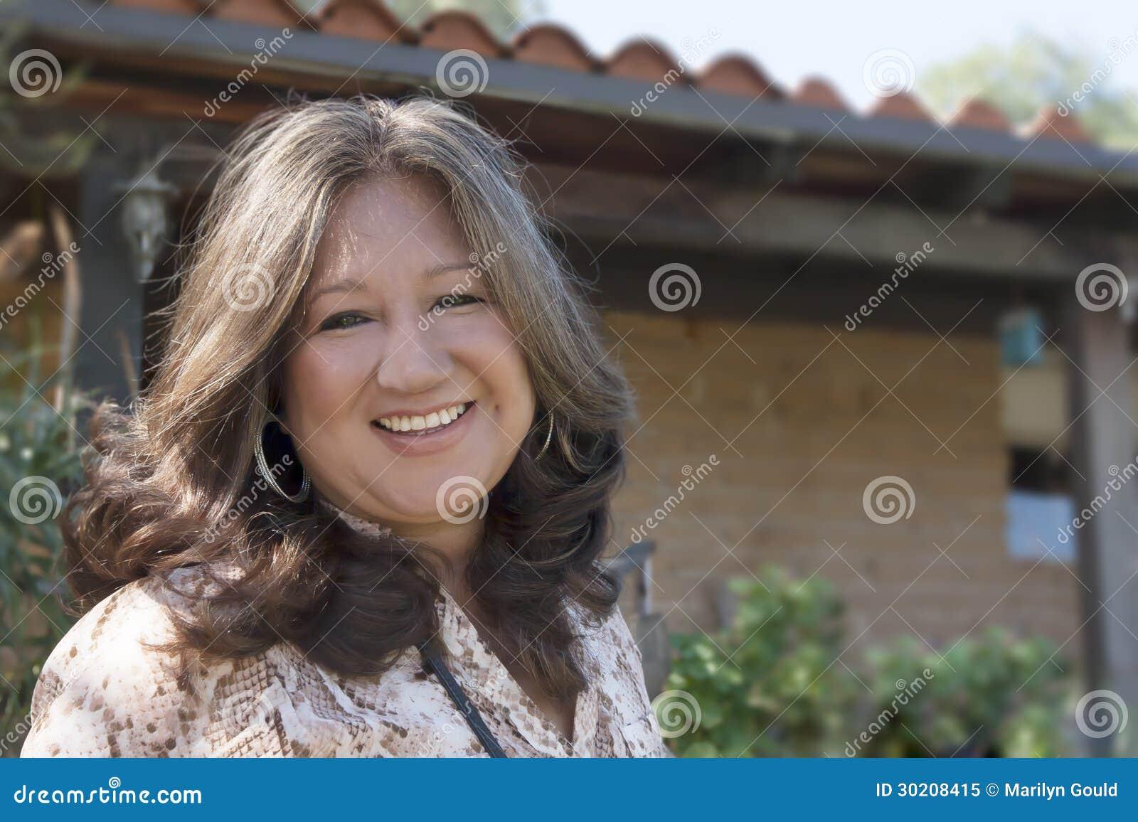 Ältere hispanische Frau