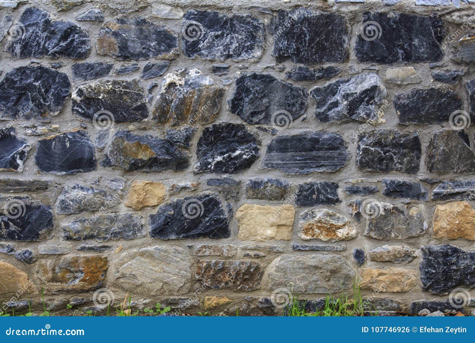 Eine bunte Bricky Wand-Beschaffenheit