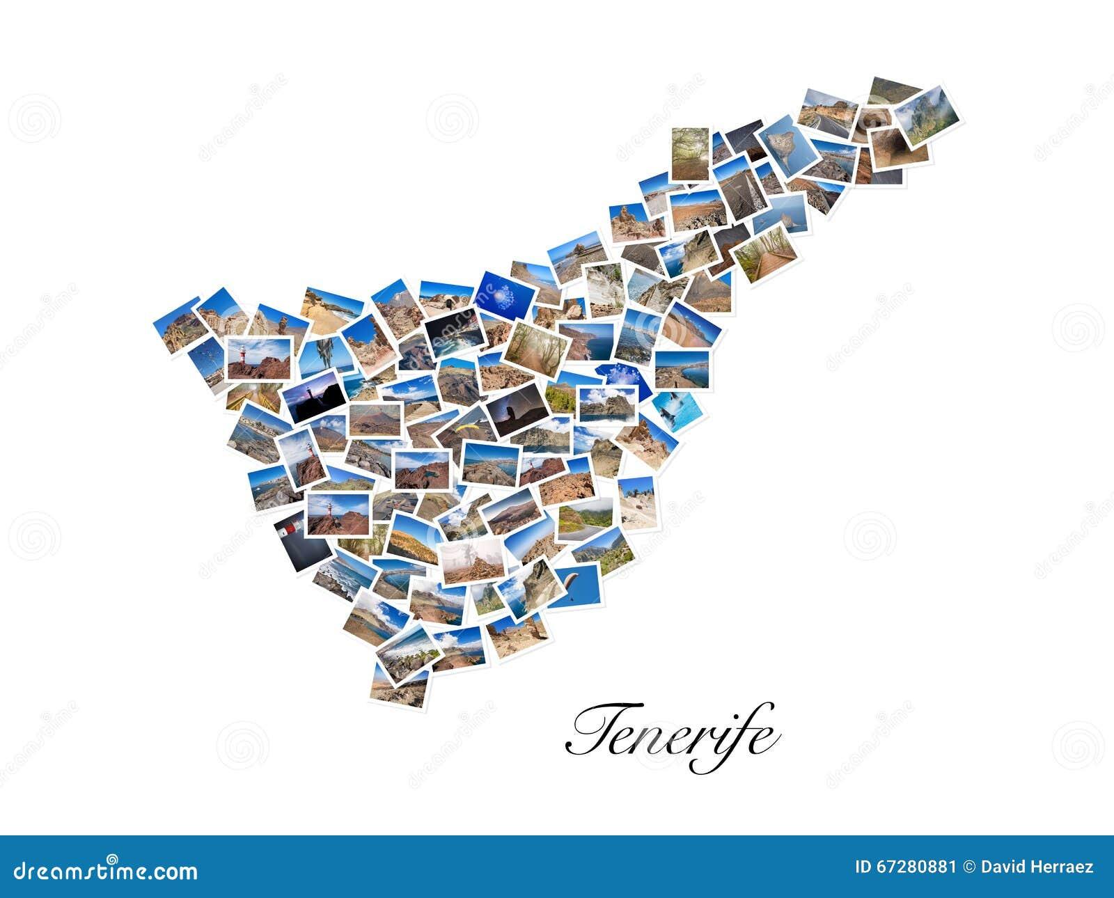 Eine Collage Meiner Besten Reisefotos Von Teneriffa, Die Form Von ...
