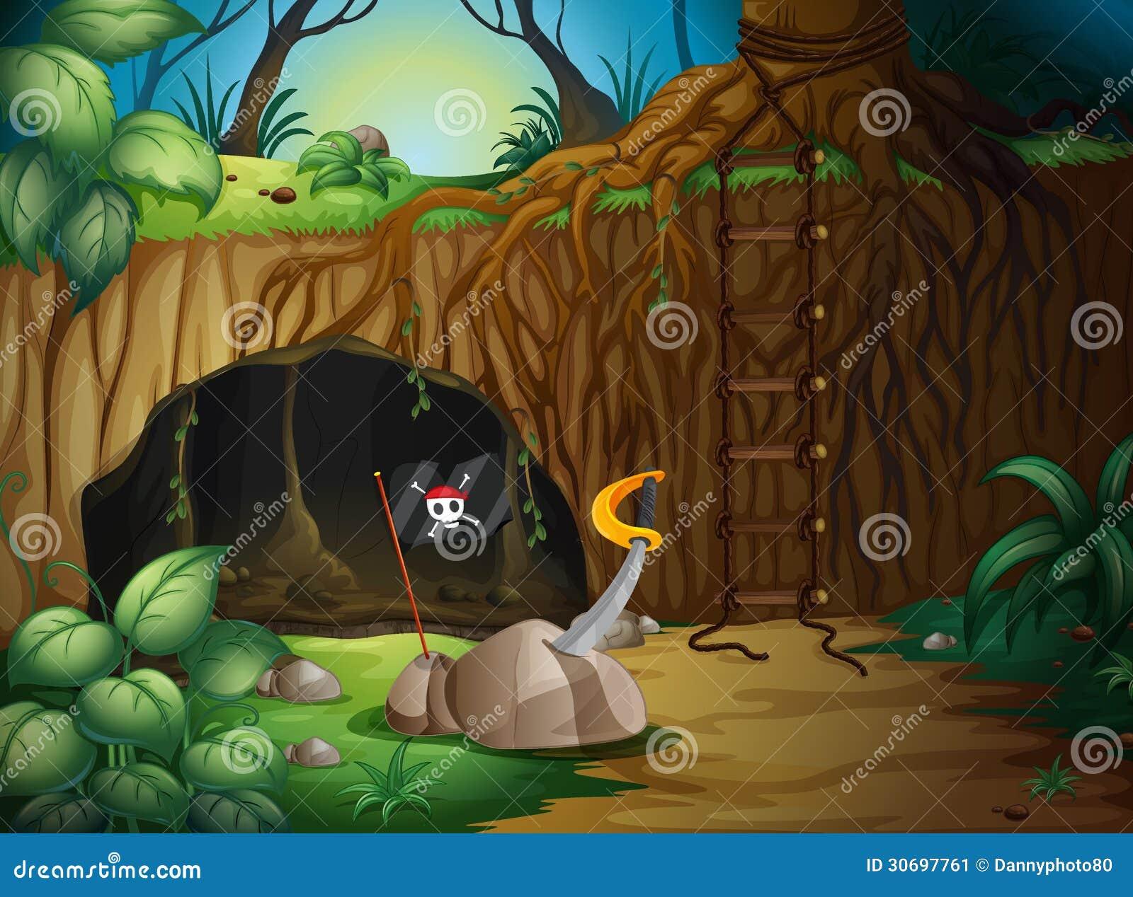 Eine geheime Höhle im Holz