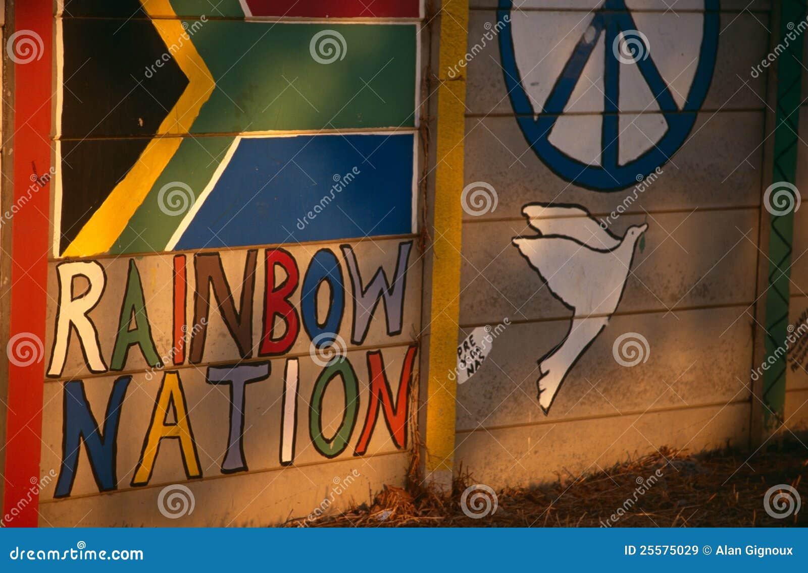 Eine gemalte Wand, Südafrika