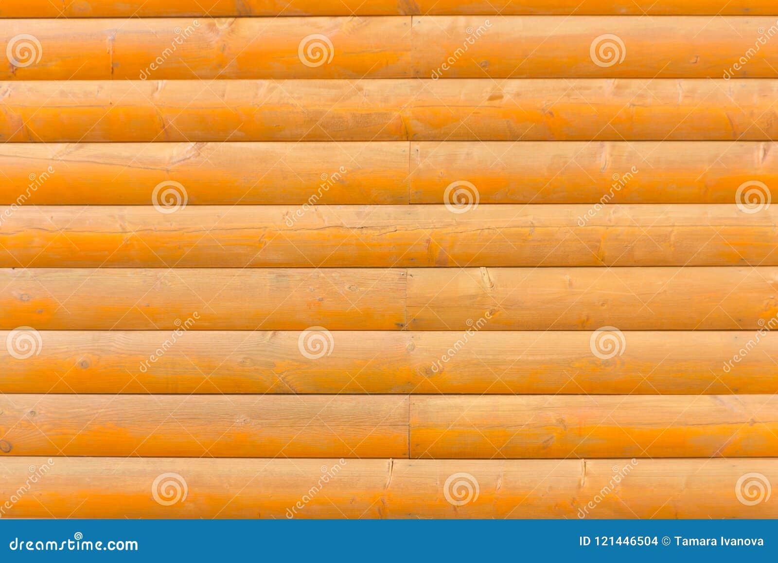 Eine hölzerne Wand Wand der Logs