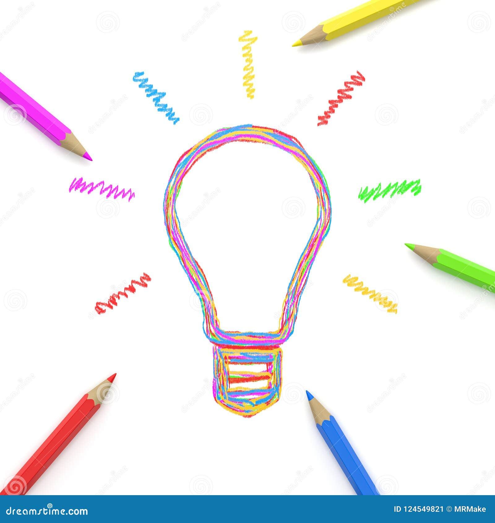 Eine Idee zusammen zeichnen, Crowdsourcing-Konzept