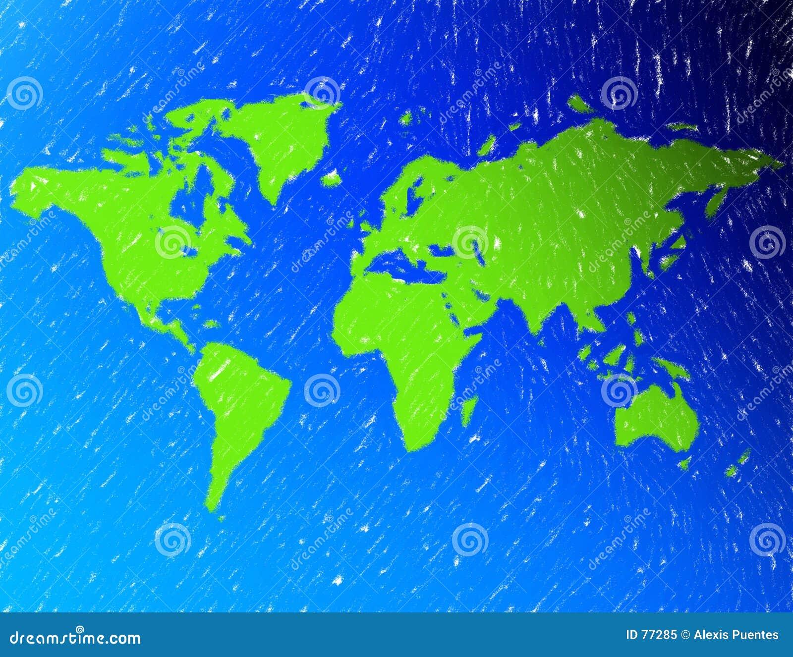 Eine Karte der Welt